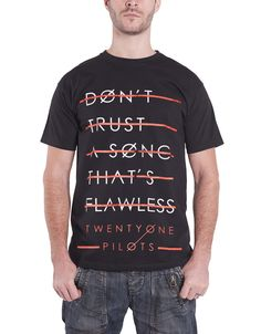 eff7d2ec3c7 21 Twenty One Pilots T Shirt trust lines lane boy Mens Black