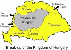 The breakup of Hungary after World War - World History, World War, Family History, United Nations Peacekeeping, Semitic Languages, World Thinking Day, Hungarian Embroidery, Good Old Times, History Classroom