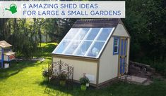 5 Garden Shed Ideas You Have To See To Believe in Small Backyard Shed Ideas Backyard Sheds, Outdoor Sheds, Backyard Landscaping, Cool Sheds, Small Sheds, Garden Storage Shed, Storage Shed Plans, Shed Design, Home Design