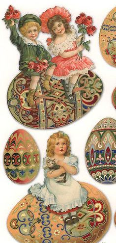 Charming Easter stickers for crafts and decorating. made in the USA