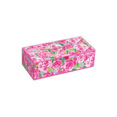 Lilly Pulitzer Medium Glass Storage Box ($48) ❤ liked on Polyvore featuring home, home decor, lilly pulitzer home accessories, lilly pulitzer, jewelry storage box, glass storage box and hinged lid storage box