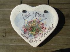 Salt Dough Floral Heart Ornament by cookiedoughcreations on Etsy, $4.95