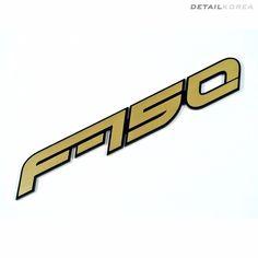 Detailkorea Car Name Emblem A-Type Gold for Ford F150 or Raptor #Detailkorea #Car #Car_Emblem #Emblem #Car_Name_Emblem #Ford #F150 #Ford_F150