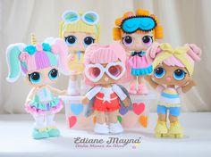 Bonecas Lol surprise de Feltro . Apostila Digital com passo a passo detalhado de todas as bonecas. Doll Crafts, Diy Doll, Crafts To Do, Lol Doll Cake, Felt Fairy, Doll Party, Lol Dolls, Doll Accessories, Baby Dolls