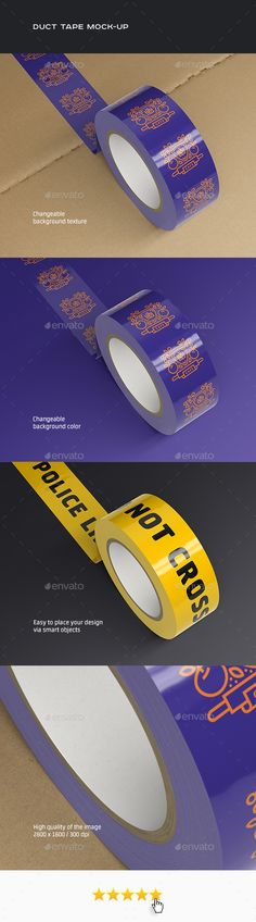 Awesome PSD Duct Tape Mock-up Template • Only available here ➝ http://graphicriver.net/item/duct-tape-mockup/16277332?ref=pxcr