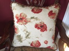 Lee Jofa custom pillows (2)  window treatments and 2 yards additional fabric.  Not sure if all could be of use or not...