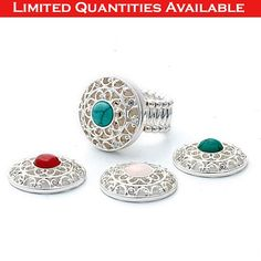 FOUR FLAVORS RING (PENELOPE ANN SIGNATURE COLLECTION) - SET OF 5