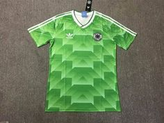 West Germany Retro Football Soccer Shirt Home 1990 World Cup Classic Away Green Old Football Shirts, Soccer Shirts, Football Soccer, Germany Football, Sport Wear, World Cup, Classic, Sports, Mens Tops