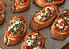 Tomato Recipes Two Tomato Bruschetta From Better Homes and Gardens, ideas and improvement projects for your home and garden plus recipes and entertaining ideas. - Two Tomato Bruschetta No Cook Appetizers, Appetizer Dishes, Healthy Appetizers, Appetizer Recipes, Delicious Appetizers, Party Appetizers, Holiday Appetizers, Party Snacks, Party Canapes