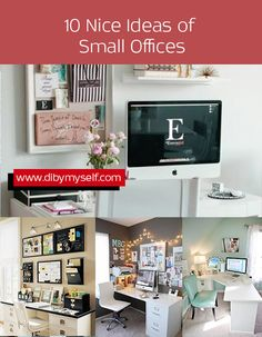 10  Nice Ideas of Small Offices