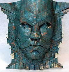 Joel Cooper is an  origami artist specializing in tessellation techniques, and paper mask designs in particular.