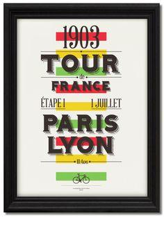 Tour de France Centenary Prints by Neil Stevens, via Behance