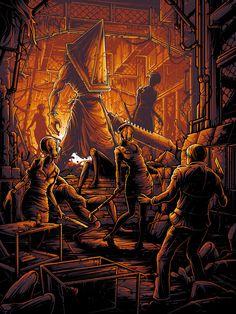 """Dan Mumford """"This town called you. Silent Hill Video Game, Silent Hill Art, Dark Fantasy Art, Dark Art, Horror Show, Horror Movies, Castlevania Wallpaper, Dan Mumford, Pyramid Head"""