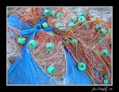Fishing net on the island Koh Chang in Thailand.     http://bamboonets.com/netting-techniques-2/