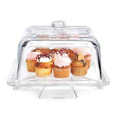 Look at this #zulilyfind! Square Cake Platter by Home Essentials and Beyond #zulilyfinds