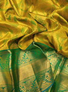 To purchase visit @ Kanchi Organza Sarees, Kanjivaram Sarees Silk, Kanchipuram Saree, Ikkat Saree, Chiffon Saree, Wedding Saree Blouse Designs, Wedding Silk Saree, Silk Saree Blouse Designs, Indian Bridal Sarees