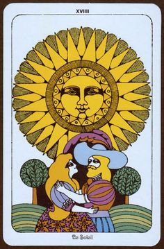 Illustration by Ron Rae from the Linweave Tarot deck, 1967
