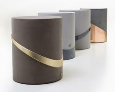 during the inaugural edition of dubai design week, beirut-based creative iyad naja exhibits a series of concrete and metal stools to o'de rose store in dubai. Concrete Stool, Metal Stool, Concrete Furniture, Bench Furniture, Concrete Design, Luxury Furniture, Furniture Design, Dubai Design Week, Ottoman Stool