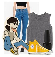 """""""Stakes Marceline"""" by platinum-smoker on Polyvore featuring BDG, MANGO, OPI and Converse"""