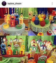 Sesame Street Custom Birthday Desserts