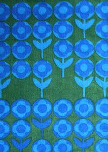Peter Hall Verdure Heals vintage fabric cushion wall hanging 50s atomic 1m