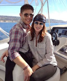 'Supernatural' Star Jensen Ackles and Danneel Harris Welcome Baby Girl Supernatural's Jensen Ackles may be used to fighting off demons as Dean Winchester but now he is trying out the new role of first time dad. Jensen Ackles Family, Jensen Ackles Jared Padalecki, Jensen And Misha, Dean Winchester, Winchester Brothers, Danneel Harris, Por Tras Das Cameras, Daneel Ackles, Bae