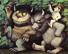 """Maurice Sendak, the children's book author and illustrator who saw the sometimes-dark side of childhood in books like """"Where the Wild Things Are"""" and """"In the Night Kitchen,"""" died early Tuesday. He was Our thoughts & prayers go out to his family. Maurice Sendak, Children's Literature, Children's Book Illustration, Book Illustrations, Childhood Memories, Childrens Books, The Book, Book Art, Reading"""