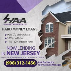 Get a Hard Money Loan at 90% MTV of Purchase 100% Rehab and 11% Rates! Take Advantage of this FREE Consultation and Speak to a Pro about your Next Fix and Flip! Buy Properties at Discounted Prices! Make REAL Money!  Call Today for a FREE Consultation! (908) 312-1456 Visit http://ift.tt/1Yam6MX and learn how to become a Real Estate Investor.  #RealEstate #Realtor #newlisting #hardmoneyloans #hardmoney #fliphouses #wholesale #wesellhouses #commercialrealestate #investing #offmarket #reo…