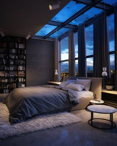 Intra Lighting BIBA You are in the right place about home design stairs Here we offer you the most b Home Room Design, Modern Bedroom Design, Dream Home Design, Modern House Design, Modern Luxury Bedroom, Contemporary Bedroom, Luxury Home Designs, Modern Mens Bedroom, Flat Design