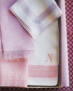 Monogrammed Napkins - Martha Stewart Crafts