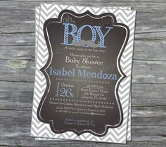 printable mustache Baby Boy Shower Invitation by DigiBabyDesign, $15.00
