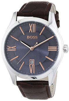 Hugo Boss 1513041 Ambassador  - Wristwatch men's, Leather, Band Colour: Brown