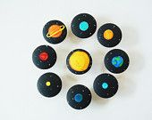 Solar System Set - Educational Memory Game - Wooden Toy etsy-zooble