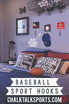Are you hooked on baseball? Good thing we've just redesigned our wall hooks for you! Use these guys as a great way to hang things in your bedroom or entryway, and proudly display your love of the sport!