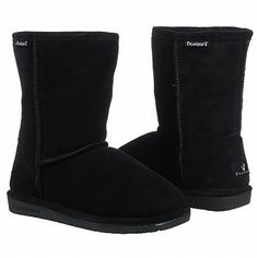 Keep your toes toasty and look trendy in the casual Emma Short boots from BEARPAW.  *Suede upper with seam-stitching detail *Sheepskin lining *Cushioning insole *8 inch shaft *15 inch circumference *Rubber traction outsole