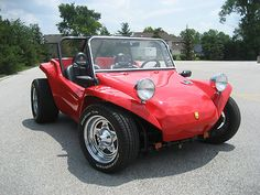 Meyers Manx Dune Buggy, Almost exactly like the one I built in 1968!  I installed a 1600cc engine, chrome headers, bigger rear tires than this, a paisley convertible top, side curtains, etc!