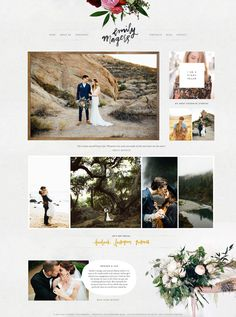 Modern Hipster earthy organic ProPhoto Website Design Web hosting at arwebhostin Design Web, Design Blog, Page Design, Website Layout, Web Layout, Website Ideas, Website Design Inspiration, Wedding Advice, Wedding Day