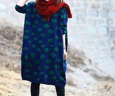 women plus size clothing Cotton dress casual by cottondress23