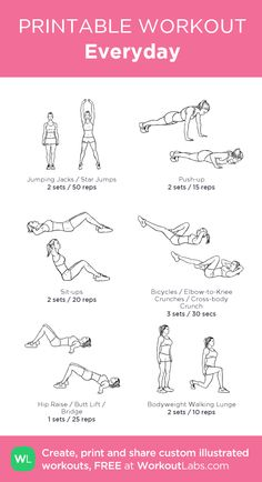 Do this everyday! Don't forget to add in some squats ;)