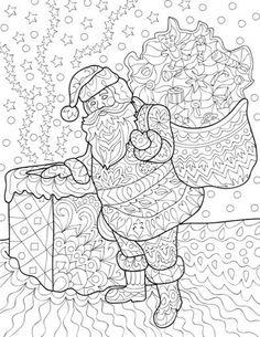 Las alegrías de Navidad: Libro de colorante para adultos