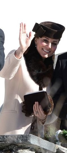 The Duchess of Cambridge attends a wedding in Switzerland, March 2, 2013.