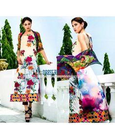 Designer Lawn Dresses 2015 by Tabassum Mughal Al Azohaib
