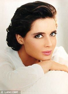 actress, isabella rossellini, eyelashes, young, face