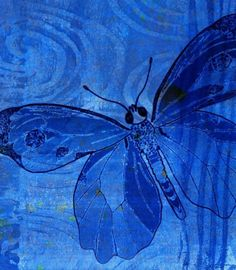 Lovely painting all in blue of a butterfly Im Blue, Kind Of Blue, Blue And White, Behind Blue Eyes, Bleu Indigo, Blue Bayou, Himmelblau, Blue Aesthetic, Blue Butterfly
