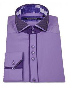 Double Collar Dot Shirt