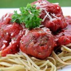 Homemade Meatballs in Tomato Sauce @ http://allrecipes.com.au