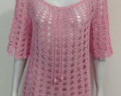 Blusa em crochet PROMOÇÃO ÚNICA