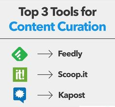Top 3 Tools for Content Curation Credits - digitalmarketing_nyc Email Marketing, Content Marketing, Internet Marketing, Social Media Marketing, Digital Marketing, The Book, Online Business, Web Design, How To Get