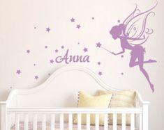 Baby Girl Room Decor Fairy Wall Decal w/ por DecaIisland en Etsy