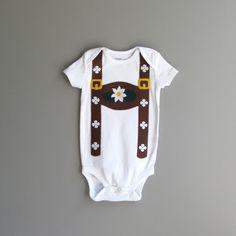 Lederhosen Baby Halloween Costume / Childrens Oktoberfest Onesie